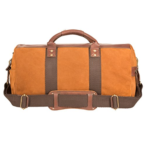 Will Leather Goods Men's Cognac Brown Signature Suede Atticus Duffle