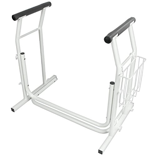 Portable Handrails For The Elderly : Stand alone toilet rail by vive bathroom safety frame