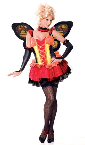 [Paper Magic Womens French Kiss Madame Monarch Costume, Pink/Black, Small] (French Kiss Costume)