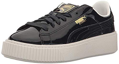 Sneakers Patent Leather (PUMA Women's Basket Platform Patent WN's Field Hockey Shoe, Peacoat, 8 M US)