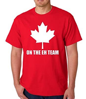 On The Eh Team Funny Canada Adult Red T-Shirt Tee