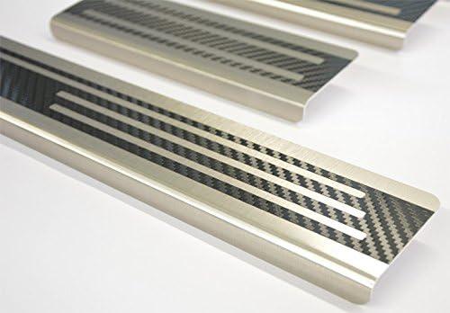 1245-704 WGS Einstiegsleisten Einstiegschutz Schtzleisten mit Abkantung Carbon auf AluNox/®