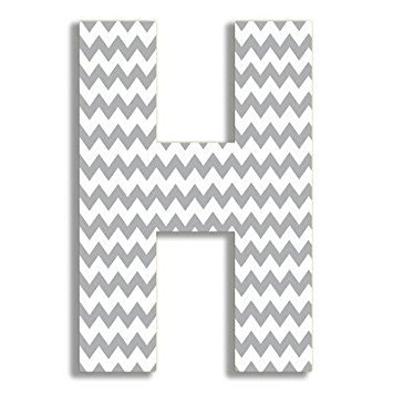 The Home Stupell Home Decor Collection Gray Chevron 18 Inch Hanging H (Print Art Wall Chevron)