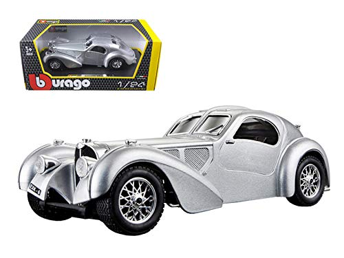 Bburago Bugatti Atlantic Diecast Model Car , Silver