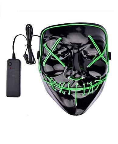 LED Halloween mask - Glowing mask mask 2018