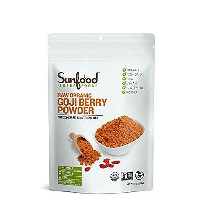 Sunfood Goji Berry Powder, 8oz, Organic, Raw