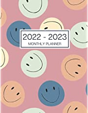 2022-2023 Monthly Planner: Large 2 Year Calendar Planner. Yearly At A Glance Organizer With To Do List, Goals And Note Pages For Women - Smiley Faces