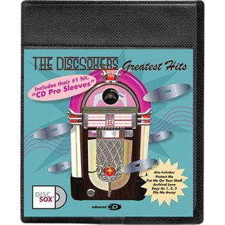 DiscSox CD Pro Sleeves - 25-Pack - 25PCDPP Cd Jewel Cases Recyclable