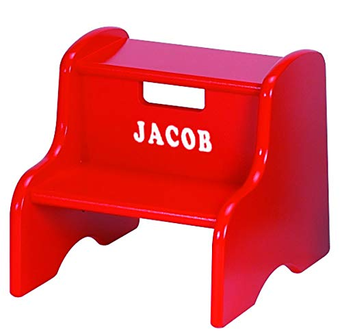 Little Colorado Personalized Red Step Stool ()
