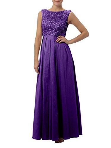 Pailletten Taft Lila Linie La Brautmutterkleider Braut mit Rock mia Lang Festlichkleider Ballkleider Abendkleider Zahlreichen A UwzqwOpE6