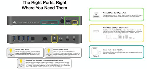 OWC 14-Port Thunderbolt 3 Dock with Cable, Compatible with Windows PC and Mac, Space Gray, (OWCTB3DK14PSG) by OWC (Image #6)