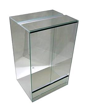 Terrarium Terrarium 60 x 60 x 100 cm avec porte coulissante, verre ...
