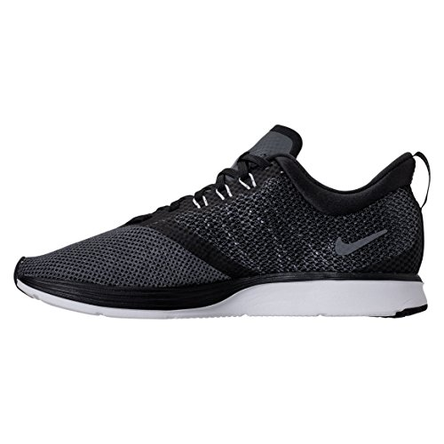 Wmnszoom 001 black Grey white Femme Strike Nike anthracite Sneakers Noir Basses dark 6x1qwwdH