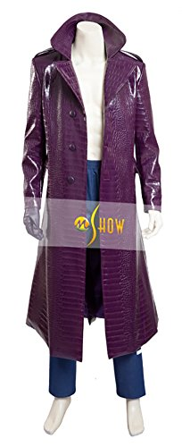 Mtxc Men's Suicide Squad Cosplay Costume Joker Full Set Size Large Purple