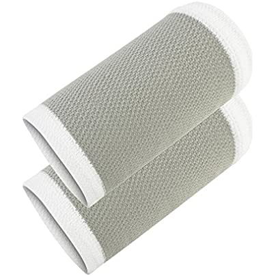 Sports Wristbands White Grey Nylon Quick-Dry Thin Light Sweat-Absorbing Air Permeability Basketball Pressurized Knit for Men Women Estimated Price £15.11 -