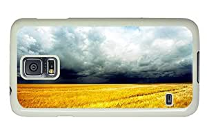 Hipster Samsung Galaxy S5 Case the best cases cornfield angry sky PC White for Samsung S5