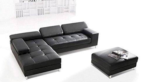 Calia Maddalena–Ecksofa Design Savoia, Leder Buffalo Zweisitziges Sofa Pelle Buffalo Marrone Scuro