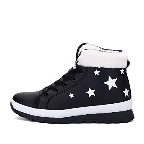 Para Martin La Corto Zapatos Algodón Invierno Black Tubo Parte Mujer Con Botas Nieve Plana Hoesczs Inferior Mujeres De Señoras Niños 05nqTTf