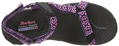 Sandalias Talla purple Black pk Skechers Mujeres Piso De PnSq5