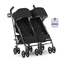 The Joovy Twin Groove Ultralight Umbrella Stroller is ready for twins or a second child. With independent reclining seats and a bassinet mode to accommodate newborns, each seat can hold a child up to 50 lbs. The Twin Groove Ultralight feature...