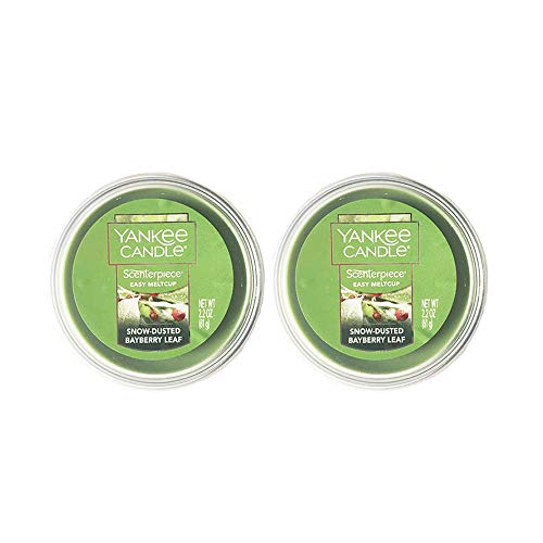 - Yankee Candle Scenterpiece Easy MeltCups, Snow-Dusted Bayberry Leaf, 2 Pack