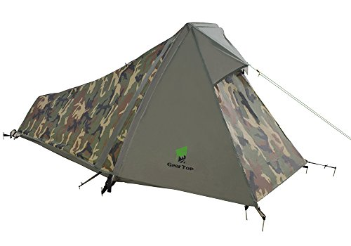 GEERTOP 1-Person 3-4 Season Lightweight Backpacking Bivy Tent, Aluminum Pole, For Outdoor Camping Hiking