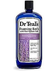 Foaming Bath with Pure Epsom Salt, Soothe & Sleep with Lavender, 34 fl oz, Purple