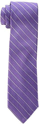 Calvin Klein Men's Hi Rib Pinstripe Tie, Lilac, One Size