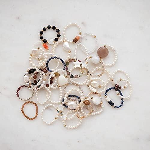 Mode Zoetwater Parel Ringen voor Vrouwen Handgemaakte Bohemian Sieraden Elastische Verstelbare Natuursteen Trouwring Party Gifts