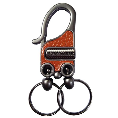 Valet Double Key Fob (Car Keychains, Liangery Classic Keyrings Double Metal Ring Waist Hug Key Chain Ring with Gift Box)