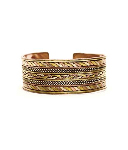 - Twisted Nepali Bracelet Open Cuff, Unisex Bracelet