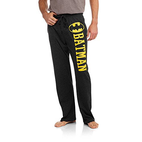 DC Comics Batman Mens Soft Black Heather Sleep Pants XXL
