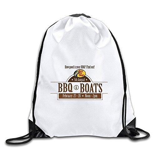 HNN BBQ Boats Logo Drawstring Backpacks Sack - Pro Bass Little Rock