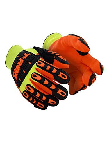 Magid Safety TRX545WM T-REX Cut Level 4 Thermal Impact Gloves, Medium, Yellow/Orange (One Pair) -