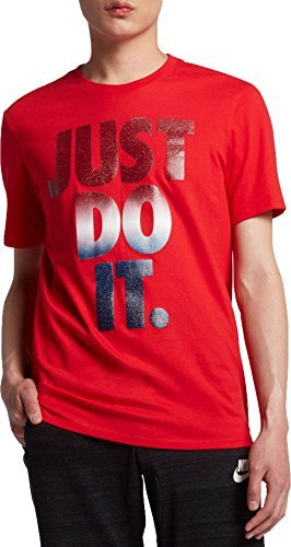 Nike Men's Sportswear Just Do It USA Graphic T-Shirt, (University Red/Black, XL)