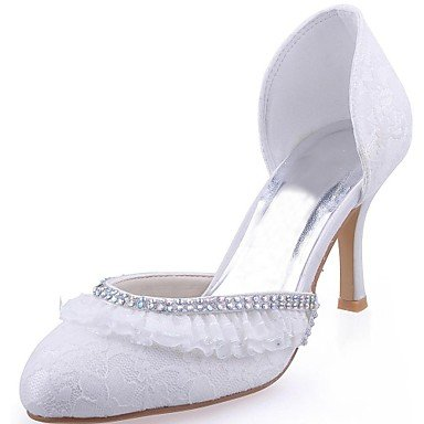 amp;Amp; Uk8 Stiletto Blanco Las 3 De 4En Primavera Noche Blanco RTRY Bomba Us10 3 US6 Otoño 5 Ue42 Shoes Talón 5 Cristal De Satén Stretch Mujeres'S Wedding 3A CN36 Básica UK4 Cn43 Boda EU36 7wxgpd