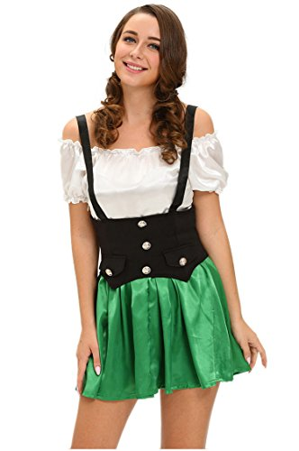 [Prettywell Womens Cosplay Sexy Maid Dress Stage Outfit 8985 (L)] (Victorian Servant Costumes)