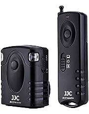 JJC Radio Wireless Remote Control for Canon EOS Rebel T6 T7 T5 T8i T7i T6i T6s T5i T4i T3i SL3 SL2 SL1 EOS 2000D 60D 70D 77D 80D 90D EOS R R6 RP M5 M6 Mark II and More Cameras with Sub Mini Connection