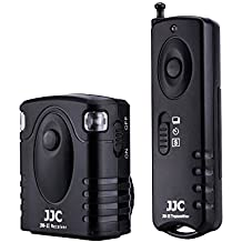 JJC JM-C(II) Wireless Remote Control for Canon EOS Rebel T6, T5, T3, T3i, T4i, T5i, T6i, T6s, T7i, SL1, SL2, XS, EOS 70D, 77D, 80D, EOS M6 and Other Cameras with Sub Mini Connection
