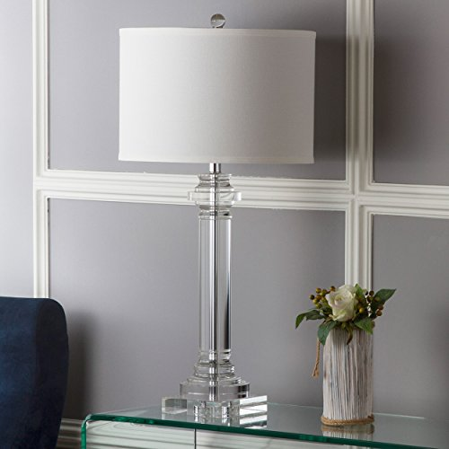 - Safavieh Lighting Collection Nina Crystal Column 30-inch Table Lamp