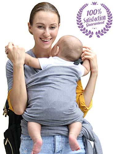 - Bonne Vie Baby Wrap Carrier for Newborn, Infants & Toddlers - Lightweight & Breathable Cotton Sling for Men & Women - Baby Wearing Made Easy - Boy Girl Baby Shower Gift & Registry Must Haves