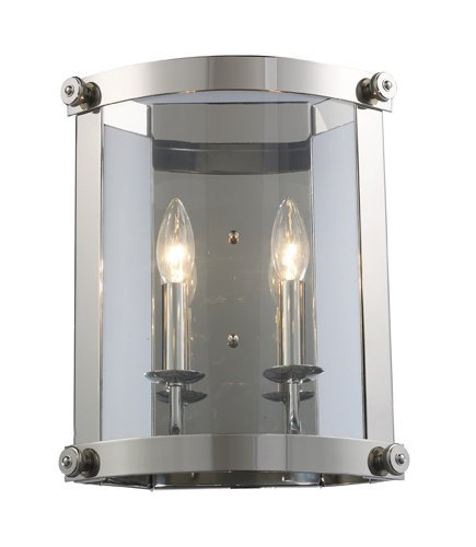 Chesapeake 2 Light Sconce (Elk 66260-2 Chesapeake 2-Light Sconce, 13-Inch, Polished Nickel)