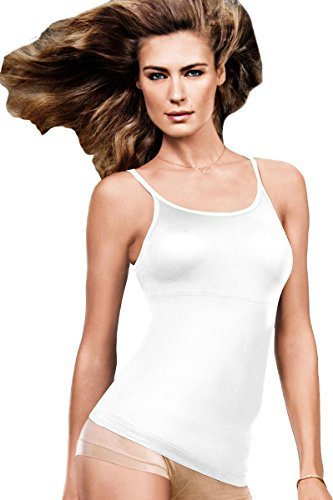 Flexees Maidenform Long Length Tank_White_XX-Large