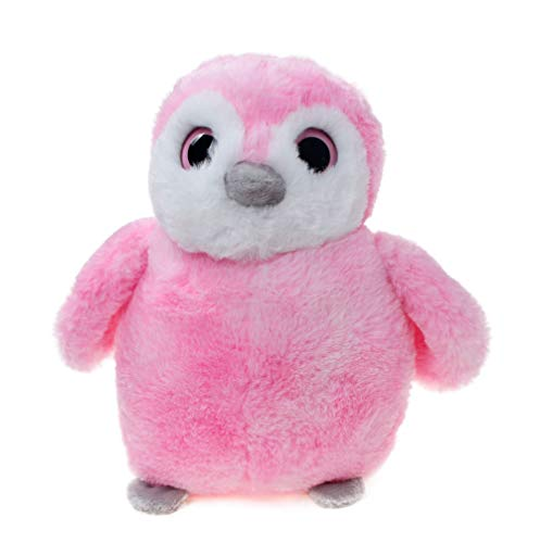 WILDREAM Soft and Cuddly Perky Pink Penguin Plush 9.8