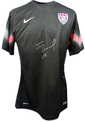 ff99a0baea2 Tim Howard Signed Jersey - USA World Cup NIKE W814872 - JSA Certified - Autographed  Soccer Jerseys at Amazon's Sports Collectibles Store