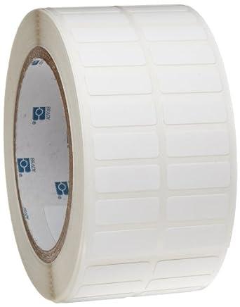 "Brady THT-152-499-3 0.375"" Width x 1"" Height, B-499 Nylon Cloth, Matte Finish White Thermal Transfer Printable Label (3000 per Roll)"