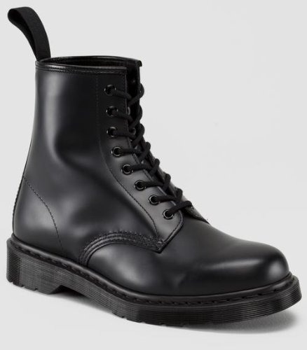 Dr. Martens Unisex 1460 8-Tie Lace-Up Boot,Black Smooth,UK