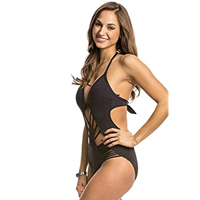Kenneth Cole Sexy Solid Push-up One Piece Swimsuit Black Small at  Women's Clothing store