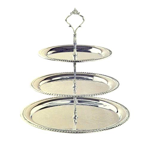 3 Tier Serving Tray Chrome Plated
