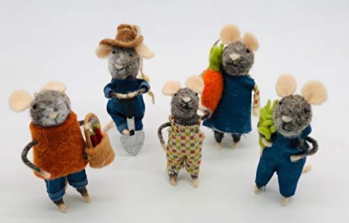 Felt Farmer Family (Needle Felted Mouse)